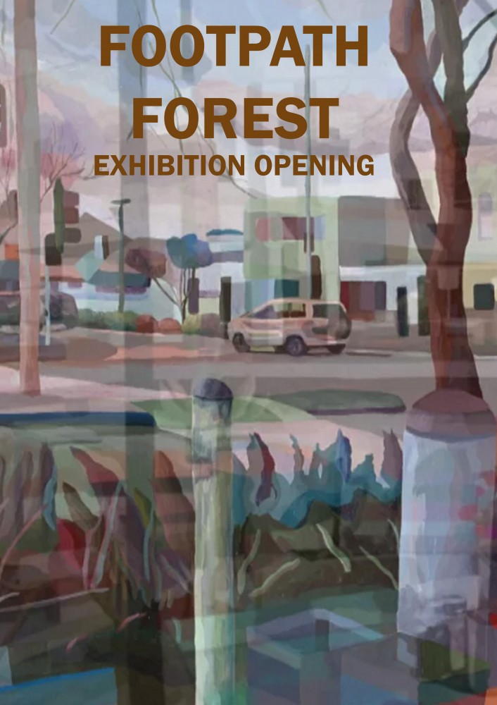 Footpath Forest Exhibition Opening by John Hipwell